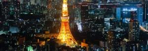 Vista nocturna con la Torre de Tokio