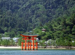 Pórtico rojo del Itsukushima, Miyajima