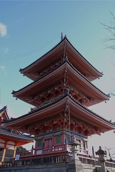 Templo Kiyomizu, uno de los más bonitos de Kioto.