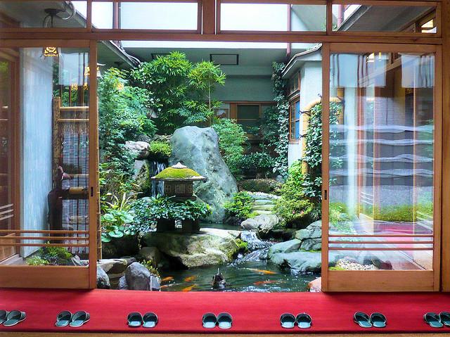 Vista interior de un Ryokan