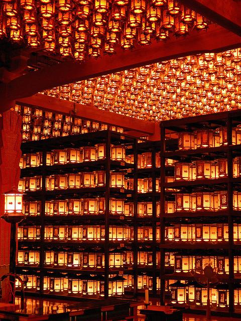 Templo de las linternas en Koyasan