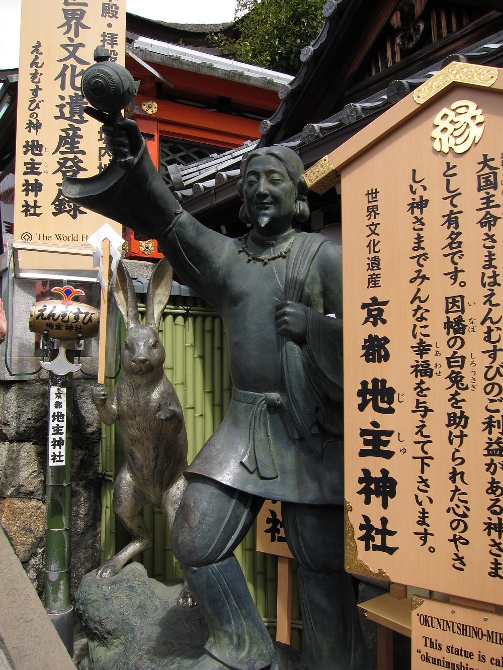 Imagen de las piedras del amor, el santuario sintoísta de Jishu Jinja en Kioto